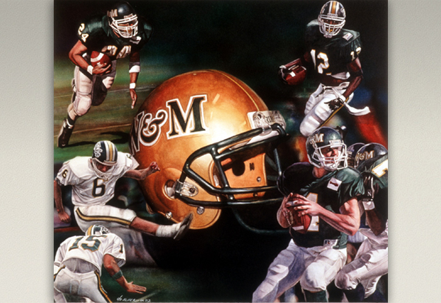 """William & Mary Football Alum"" by Daniel C. Palmer"