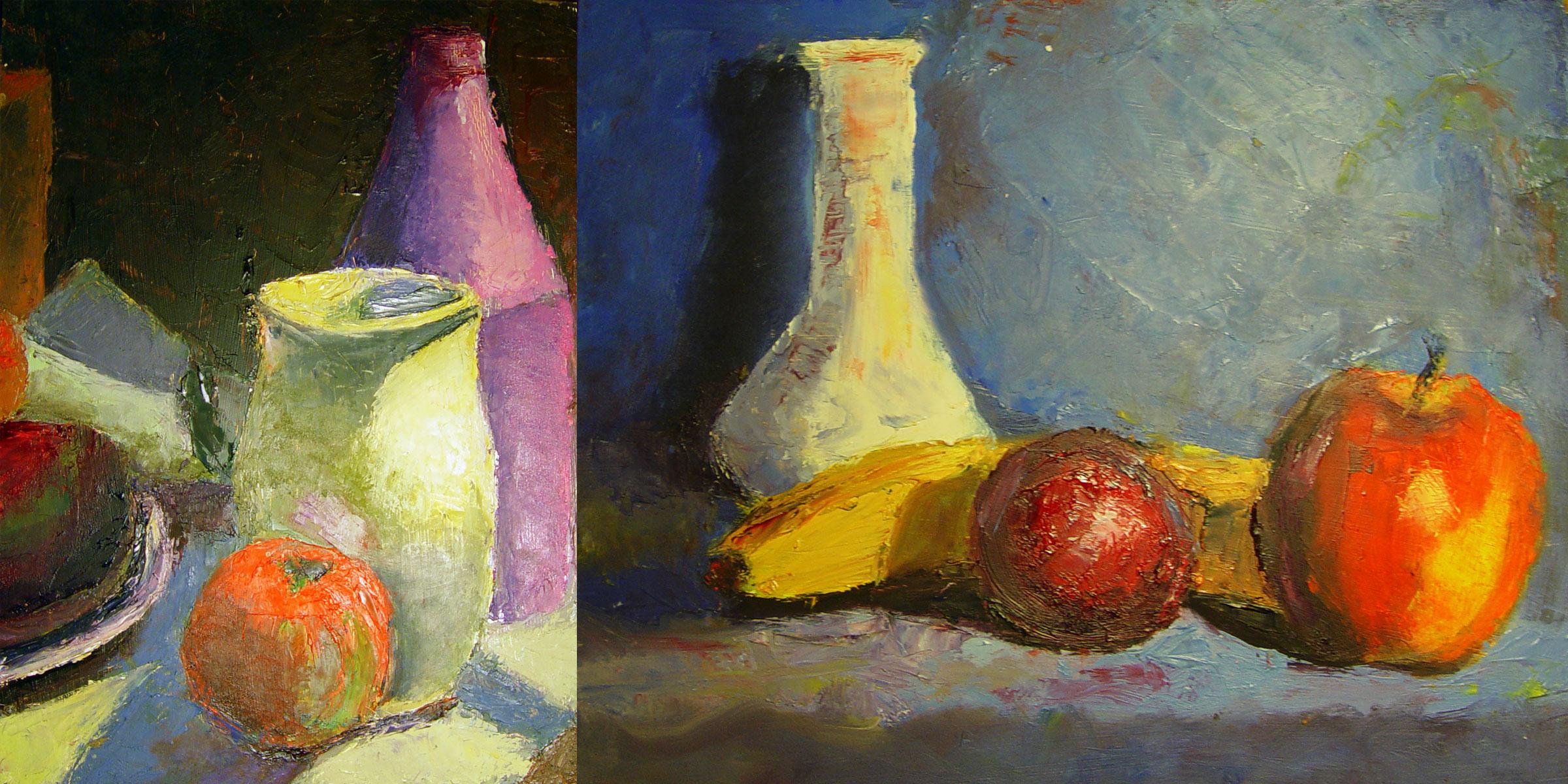Daniel C. Palmer Art – Oil Still Life 1 & 2