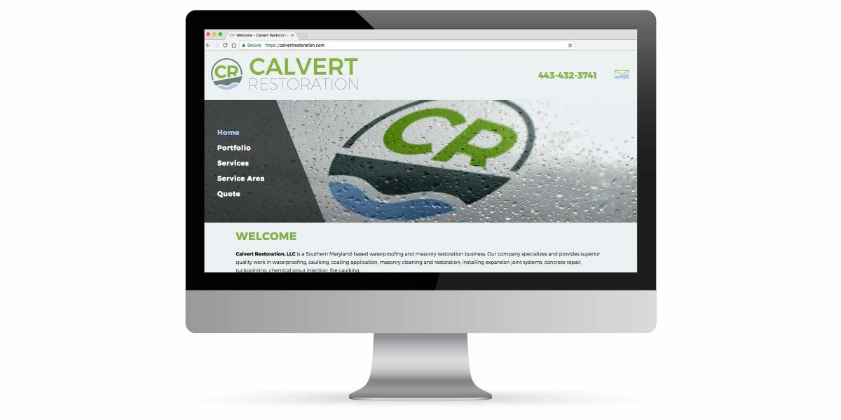 Calvert Restoration Website Portfolio