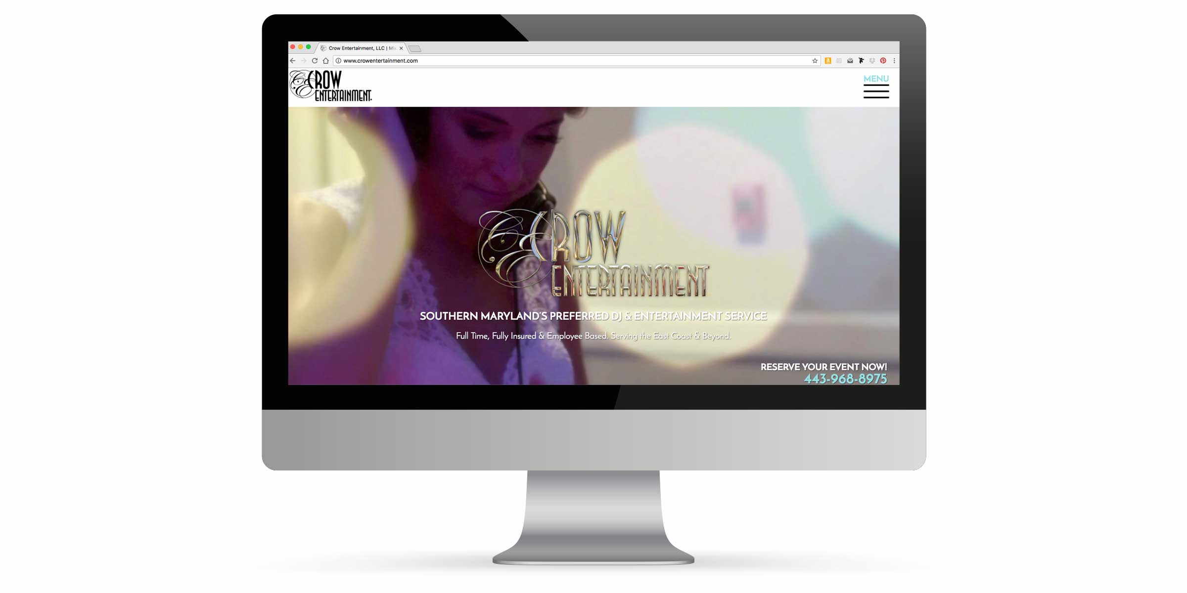 Crow Entertainment Website Portfolio