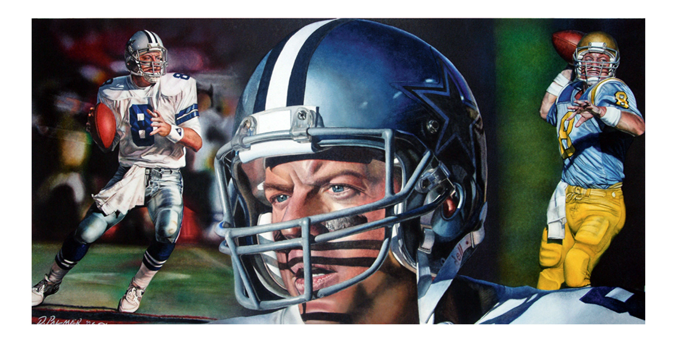 DCP Watercolor Art Troy Aikman