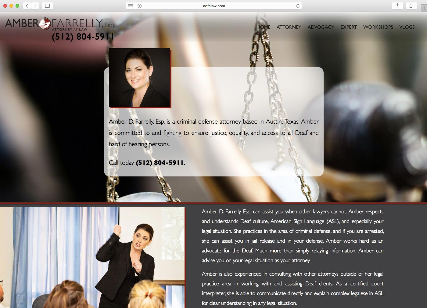 DCP Website - Amber D. Farrelly Law