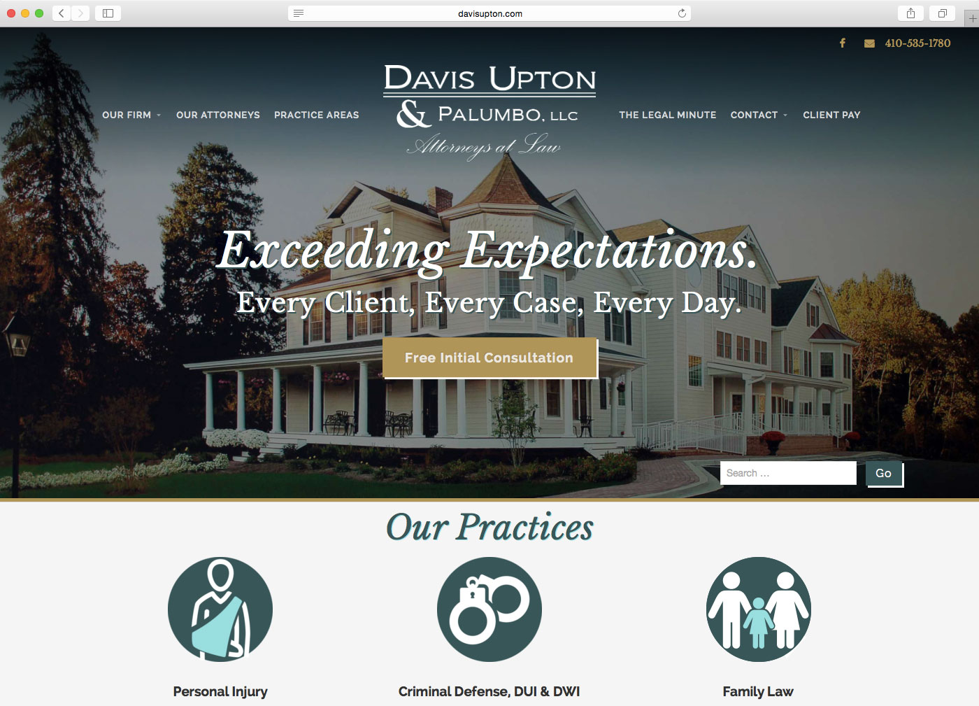 DCP Website Design - Davis Upton