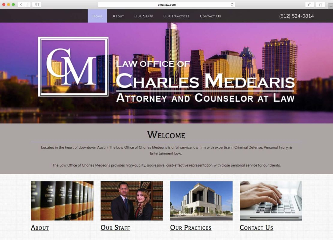 DCP Website Portfolio - Charles Medearis Law