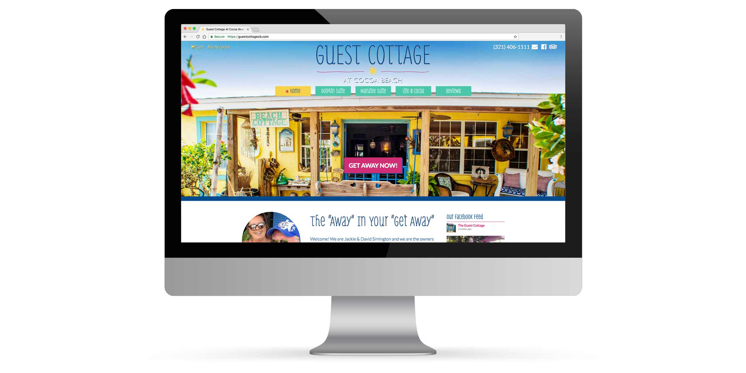 Guest Cottage Cocoa Beach Website Development Portfolio